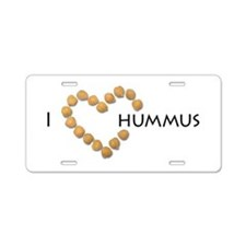 I heart hummus Aluminum License Plate