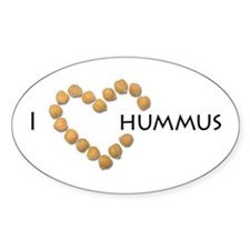 I heart hummus Decal