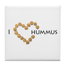 I heart hummus Tile Coaster