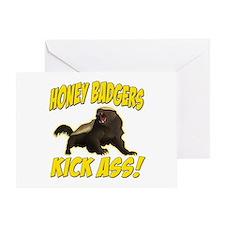 Honey Badgers Kick Ass Greeting Card