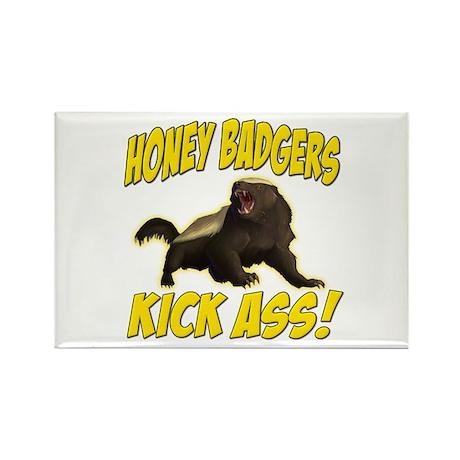 Honey Badgers Kick Ass Rectangle Magnet