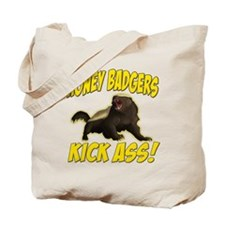 Honey Badgers Kick Ass Tote Bag
