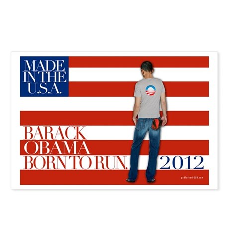 Obama: Born to RUN! Postcards (Package of 8)