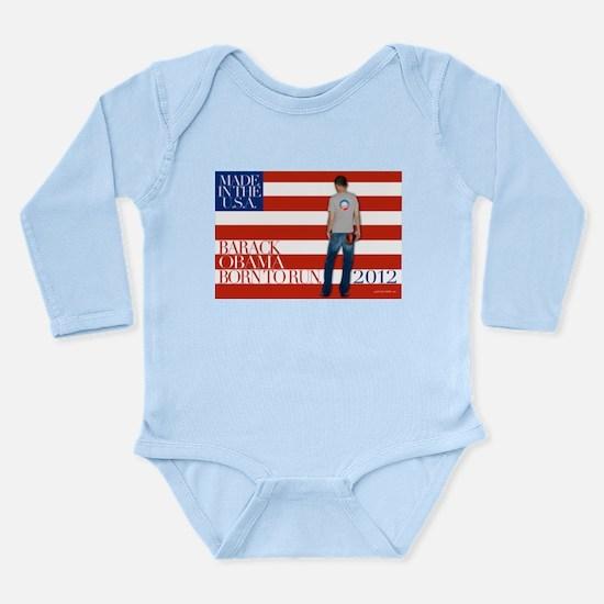 Obama: Born to RUN! Long Sleeve Infant Bodysuit