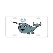 Narwhal! Aluminum License Plate