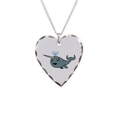 Narwhal! Necklace Heart Charm