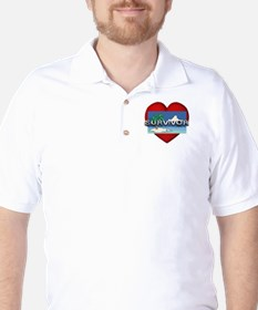 Survivor Love Golf Shirt