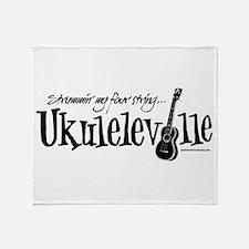 Ukuleleville Throw Blanket
