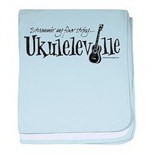 Ukuleleville baby blanket