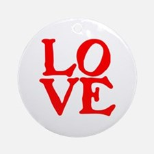 LOVE IIII Ornament (Round)