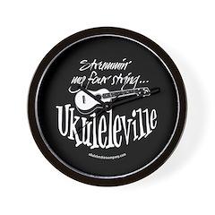 Ukuleleville Wall Clock