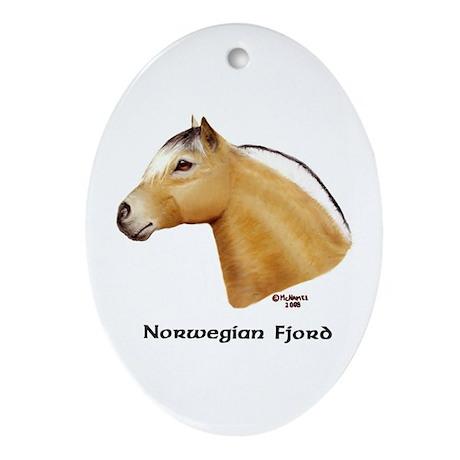 Norwegian Fjord Ornament (Oval)