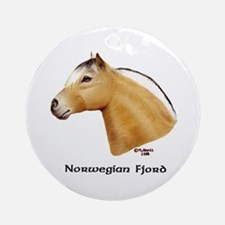 Norwegian Fjord Ornament (Round)