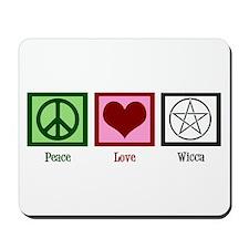 Peace Love Wicca Mousepad