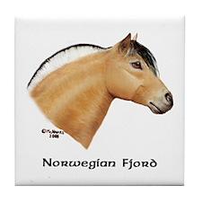 Norwegian Fjord Tile Coaster