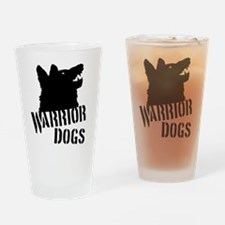 Warrior Dogs Drinking Glass