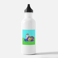 Gray Siberian Husky Water Bottle