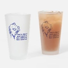 Reason For Child-Free Pint Glass