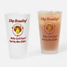 Stop Overpopulation Pint Glass