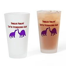 Overbreeding Dinosaurs Pint Glass