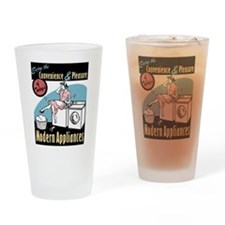 Retro Modern Appliances Pint Glass