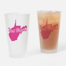 Pink West Virginia Pint Glass