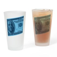 Blue Hundred Dollar Bill Pint Glass