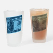 Blue Hundred Dollar Bill Pint Glass
