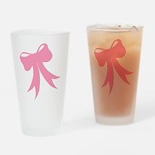 Pretty Pink Bow Pint Glass