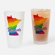 Gay Pride Rainbow Minnesota Pint Glass