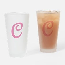 C Initial Pint Glass