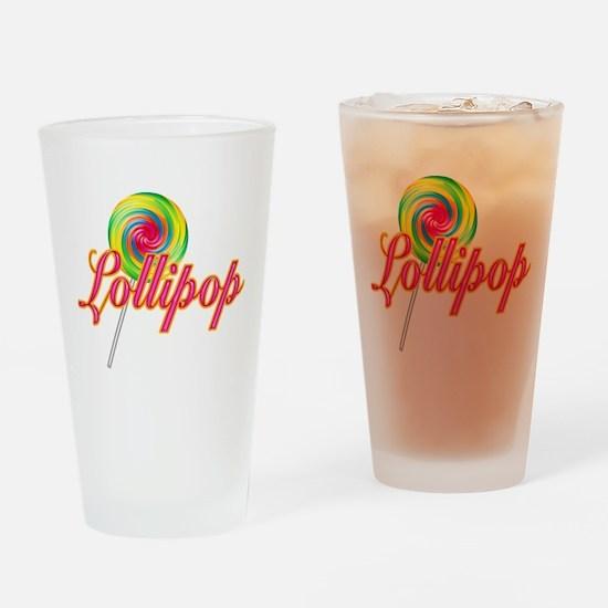 Text Lollipop Pint Glass