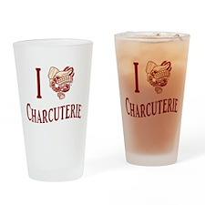 I Love Charcuterie Pint Glass