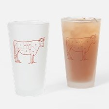 Retro Beef Cut Chart Pint Glass
