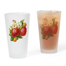 Retro Strawberry Pint Glass