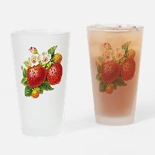 Retro Strawberry Pint Glass