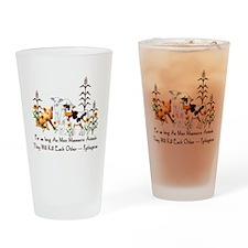 Pythagoras Vegetarian Quote Drinking Glass