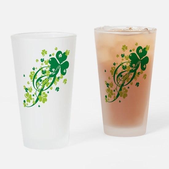 Shamrocks and Swirls Pint Glass