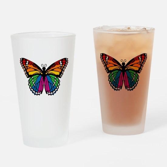 Rainbow Butterfly Pint Glass