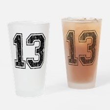 Retro 13 Number Drinking Glass