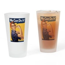 Rosie the Riveter We Can Do It Drinking Glass