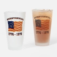 Retro 1776-1976 Flag Pint Glass