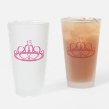 Quinceanera 15 Crown Pint Glass