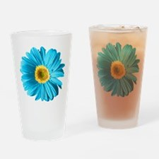 Pop Art Blue Daisy Pint Glass