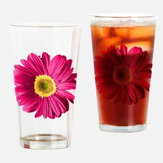 Pop Art Fuchsia Daisy Pint Glass