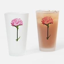 Pink Carnation Pint Glass