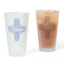 Nurse Blue Lacy Cross Drinking Glass