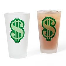 Dollar Sign Pint Glass
