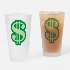 Dollar Sign Pint Glass