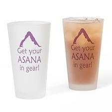 Yoga Get Your Asana In Gear Pint Glass